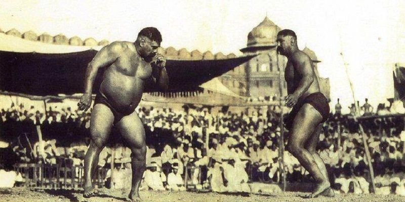 Gama Pehalwan With Balram Heeraman Singh Yadav (Left)