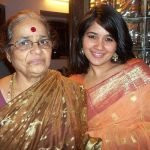Narayani with her mother