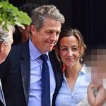 Anna Eberstein and Hugh Grant after getting married