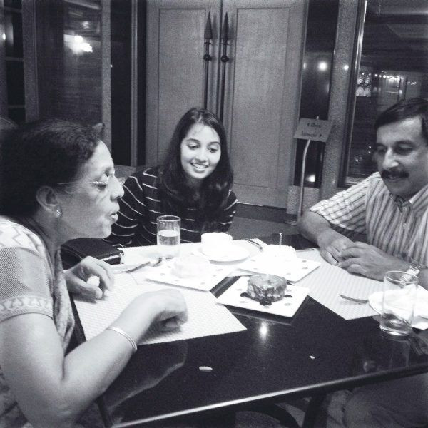 Aparna Krishnan with Her Parents