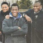 Romelu Lukaku with his parents