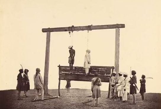 Uyyalawada Narasimha Reddy getting hanged