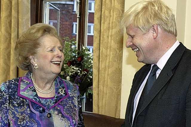 Boris Johnson and Margaret Thatcher