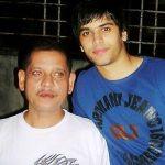 Kartik Bishnoi with his father
