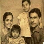 Amrish Puri With His Wife and Children