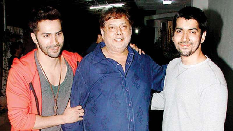 Varun Dhawan With His Father and Brother