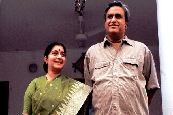 Sushma Swaraj with her Husband Swaraj Kaushal