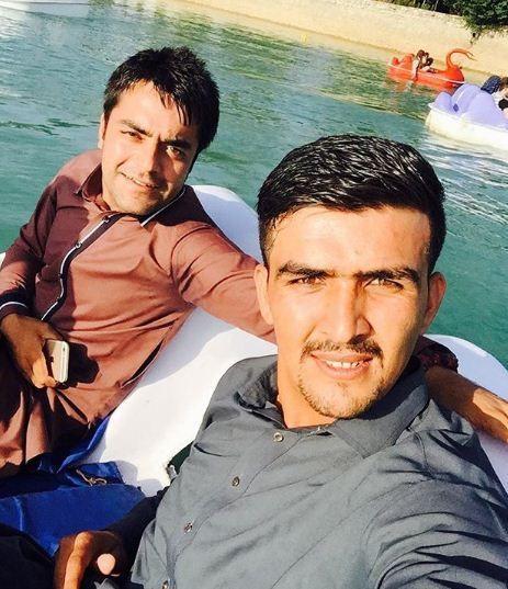 Hazratullah Zazai With Rashid Khan