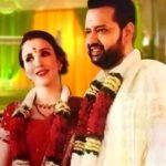 Rahul Mahajan with his wife Natalya Ilina