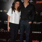 Ajay Bijli with his wife Selena