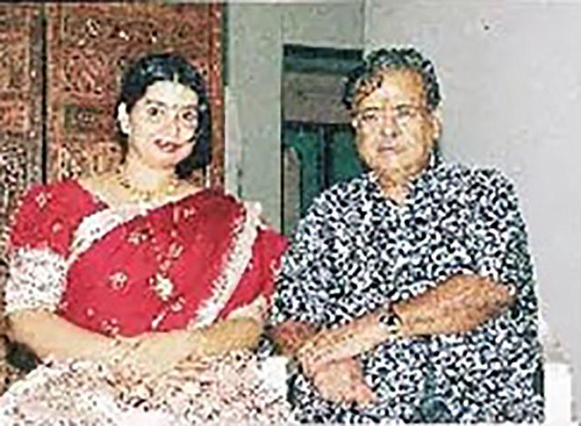 Gemini Ganesan with his wife Juliana Andrews