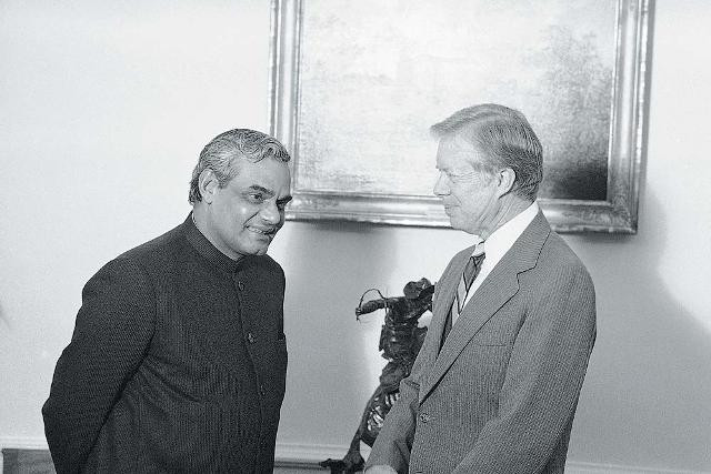 Atal Bihari Vajpayee With Jimmy Carter