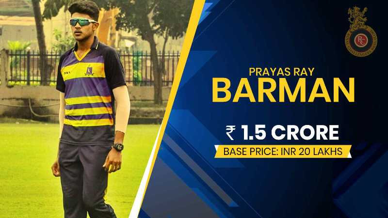 Prayas Ray Barman Auction Bid Amount
