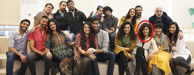 """Palomi Ghosh with the cast of """"Monsoon Wedding Musical"""""""