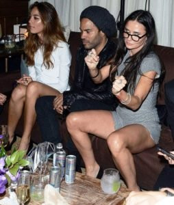 Demi Moore Drinking Alcohol