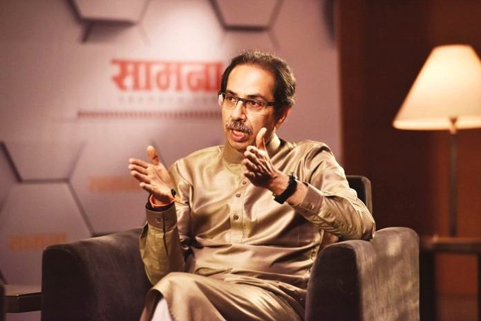 Uddhav Thackeray during a Saamana interview