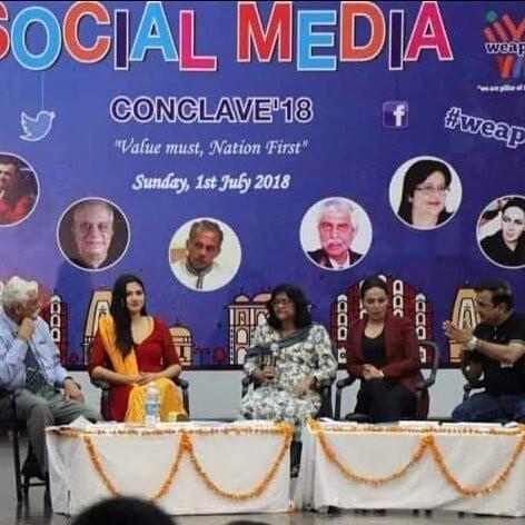 Amber Zaidi at Social Media Conclave