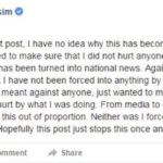 Zaira Wasim second deleted apology post