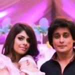 Sahir Lodhi with his wife and daughter