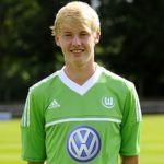 Julian Brandt playing for VfL Wolfsburg