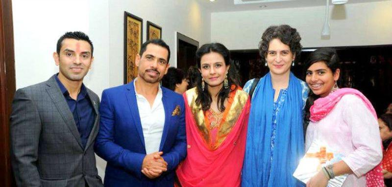 Monicka Vadera with Robert Vadra, Tehseen, and Priyanka Gandhi