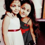 Ayat Shaikh with her sister Ayra Shaikh