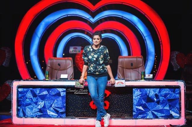 Priyamani on the sets of a dance show