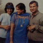Nia Sharma (Childhood) with her parents