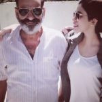 Mansha Bahl with her father