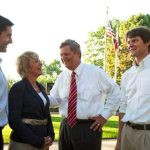 Tom Vilsack with his wife and two sons