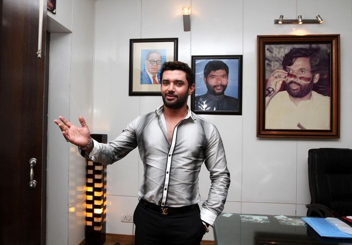 Chirag Paswan in his office