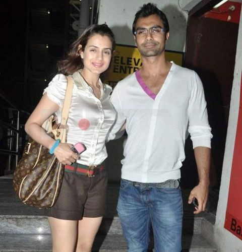 Ameesha Patel with her Brother Ashmit Patel