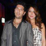 Yuvraj Singh with Kim Sharma