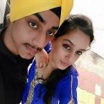 Sargun Kaur with her brother