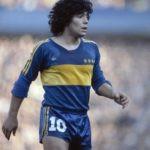 Diego Maradona playing for Boca Juniors