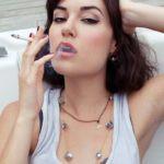 Sasha Grey smoking