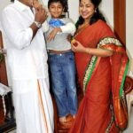 Varalaxmi Sarathkumar father Ramanathan Sarathkumar, step-mother Raadhika Sarathkumar, and half-brother Rahul