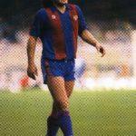 Diego Maradona playing for Barcelona