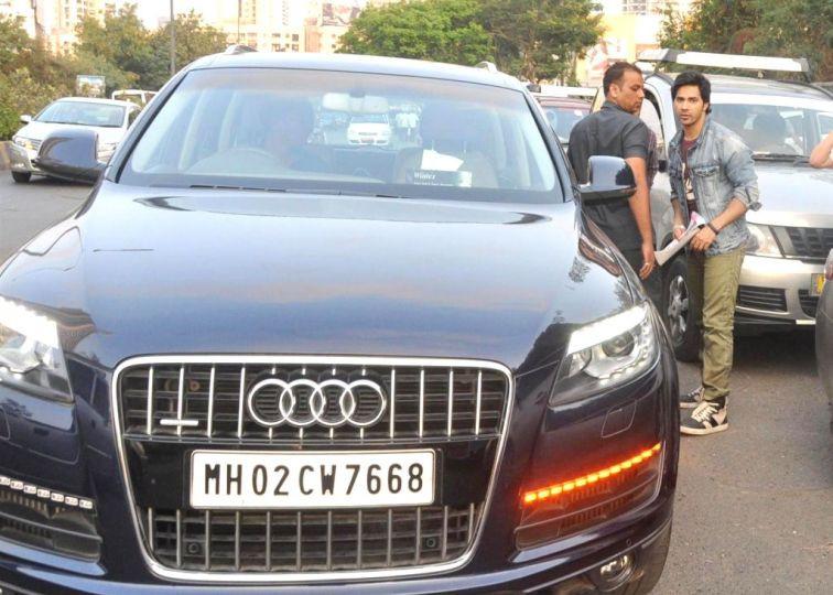 Varun Dhawan With His Audi Q7