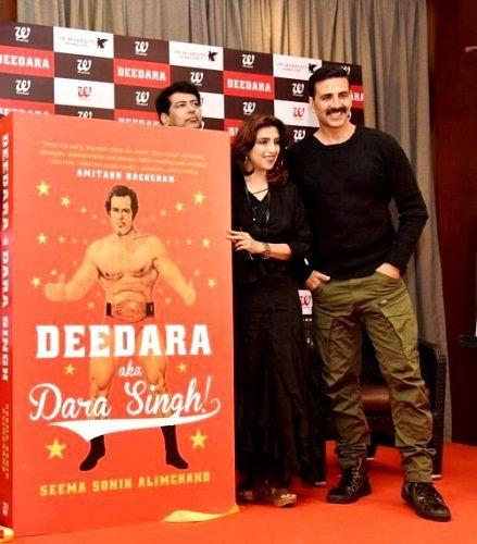 Akshay Kumar launched Seema Sonik Alimchand's book 'Deedara aka Dara Singh'