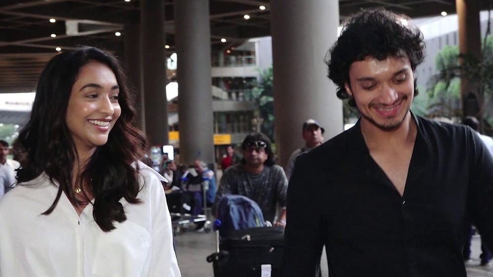 Namashi Chakraborty with his co star Amrin Qureshi