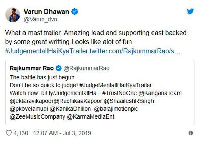 Varun's Tweet