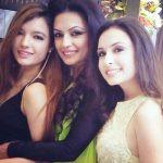Orvana Ghai with her mother Kavita Ghai and sister Ahana Ghai