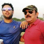 Yuvraj Singh with his father