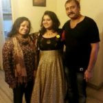 Pihu Sand with her parents