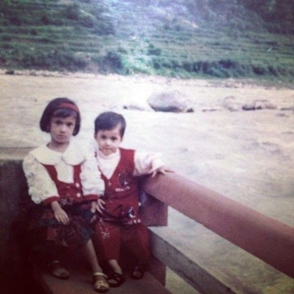 Disha Patani (Right) And Her Elder Sister In Their Childhood