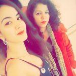 Rashalika with her mother