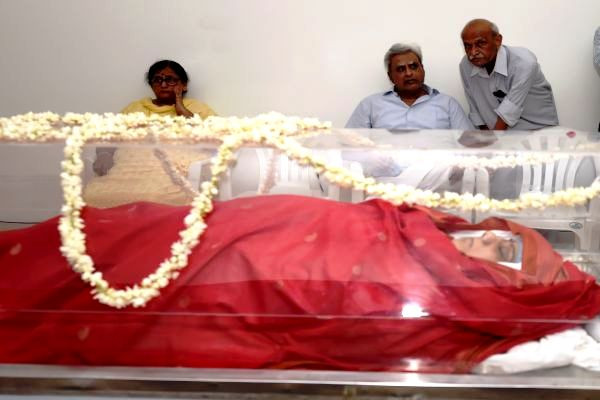 Sushma Swaraj's Body At Her Delhi Residence