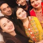 Khushi Chaudhary with her family