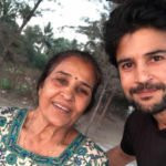 Rajeev Khandelwal with his mother